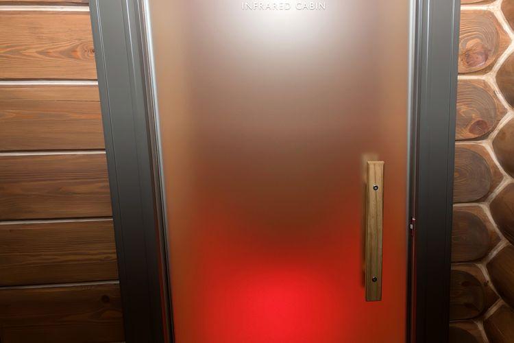 Sklenené dvere do infrasauny