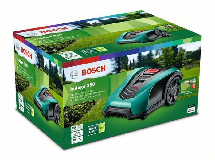 Balenie robotickej kosačky Bosch Indego 350