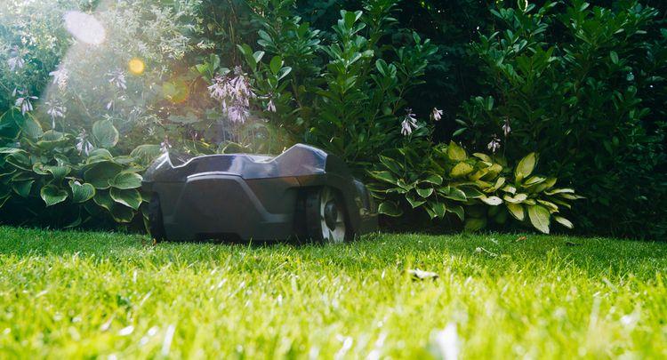 Kosenie trávnika pomocou robotickej kosačky