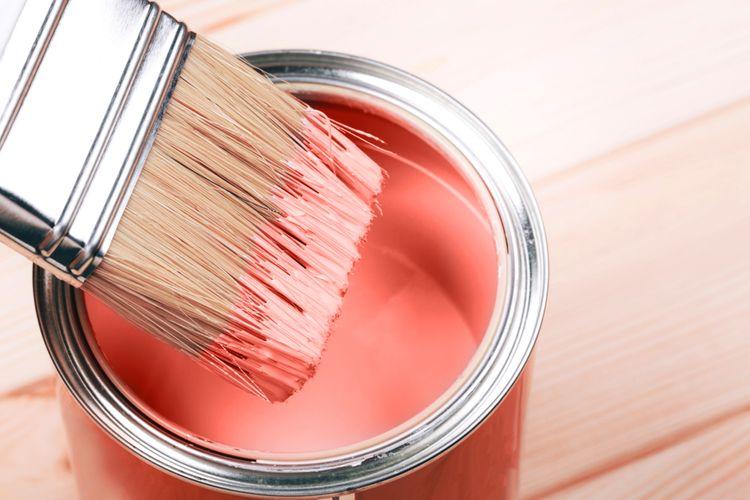 Ružová interiérová farba