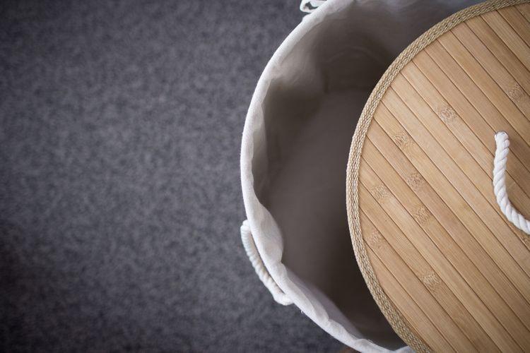 Bambusový kôš na bielizeň s látkovým vnútrom