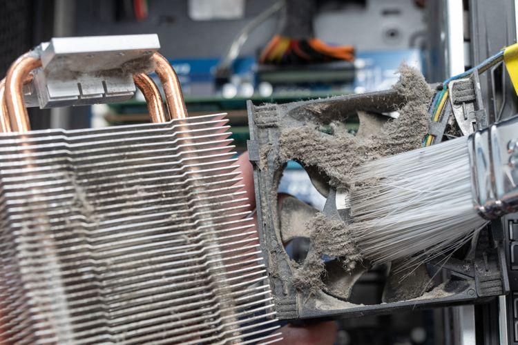 Čistenie chladiča na procesor