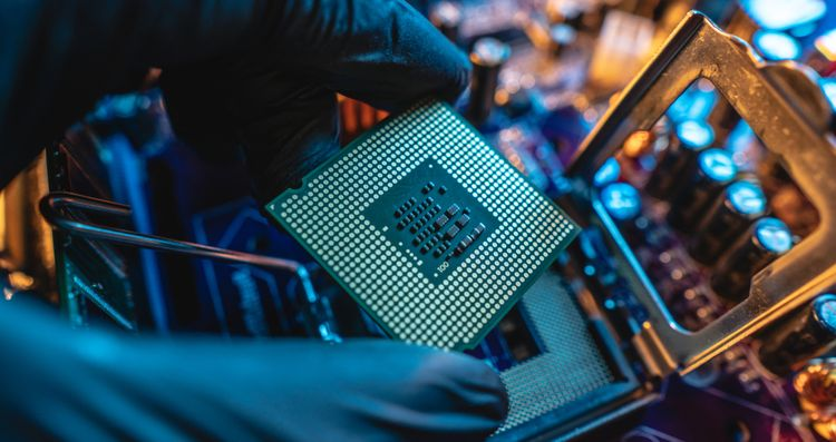 Výkonný procesor počítača