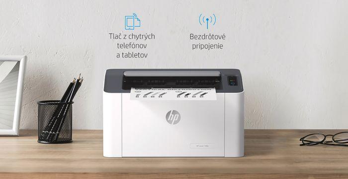Tlačiareň HP Laser 107w s Wi-Fi