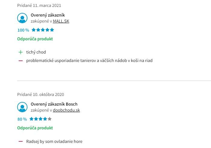 Skúsenosti a recenzie s umývačkou riadu Bosch SKS51E32EU