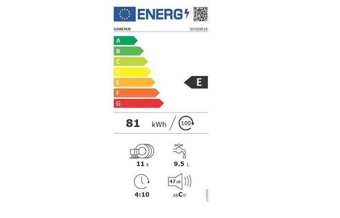Gorenje GV520E10 energetický štítok