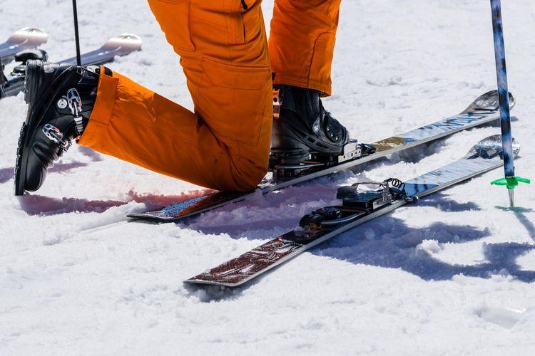 Obúvanie lyží