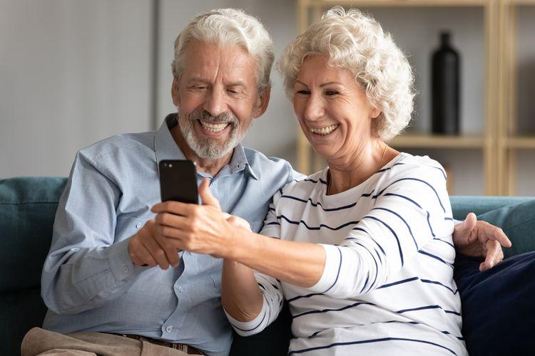 Dotykový mobil pre seniorov – ovládanie