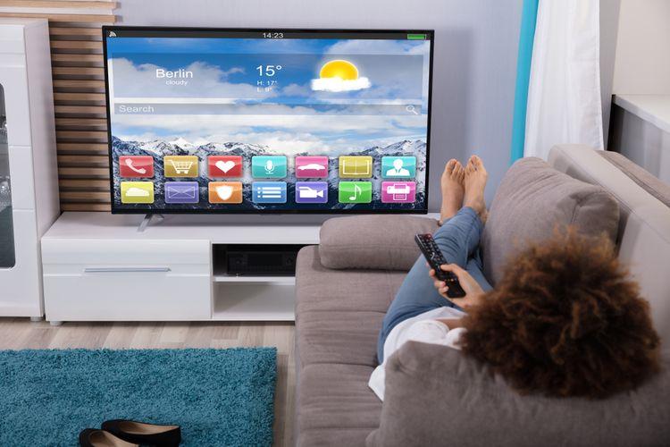 Televízor v obývačke